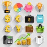 Business flat icons color set. Vector illustration vector illustration