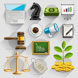 Business flat icons color set. Vector illustration Royalty Free Stock Image