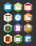 Business flat icons design set. Useful fort website and mobile app. EPS10 vector file organized in layers for easy editing Royalty Free Stock Image