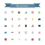 Business Flat Icons. Business and finance flat icons set. Vector illustration Stock Image