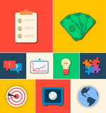 Business flat icons for infographic. Vector Stock Photography