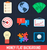 Business flat icons for infographic. Vector Royalty Free Stock Images