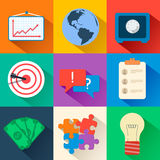 Business flat icons for infographic. Vector Stock Image