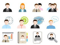 Business Flat Icons Stock Photos