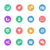 Business flat icons set. EPS 10. Business flat icons set of 16 on white background. EPS 10 Royalty Free Illustration