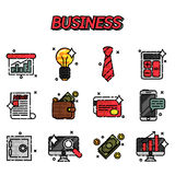 Business flat icons set. Business Flat icon set for Web and Mobile Application Stock Photos