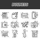 Business flat icons set. Business Flat icon set for Web and Mobile Application Stock Image