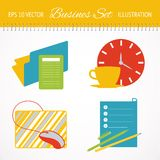 Business flat icons set. Royalty Free Stock Photo