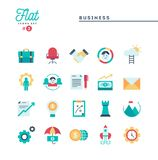 Business, flat icons set. Vector illustration Royalty Free Stock Photography