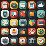 Business flat icons set Stock Images