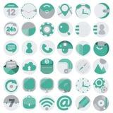 Business flat icons set Royalty Free Stock Image