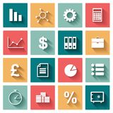Business Flat icons set for Web and Mobile Royalty Free Stock Photo