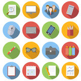 Business flat icons. Set  on white background Royalty Free Stock Photos