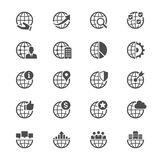 Business flat icons Royalty Free Stock Photography