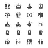 Business flat icons. Simple, Clear and sharp. Easy to resize Stock Images