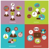 Business flat icons Stock Photography