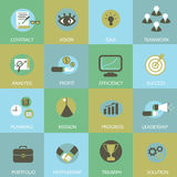 Business flat icons Stock Images