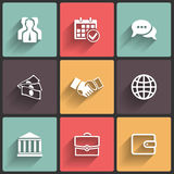Business Flat icons Stock Photo