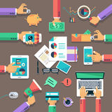 Business flat illustration concept. Royalty Free Stock Photo