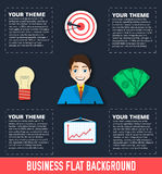 Business flat infographic template with text Stock Photos