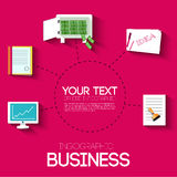 Business flat infographic template with text Royalty Free Stock Photos