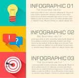 Business flat infographic template with text Royalty Free Stock Images