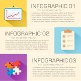 Business flat infographic template with text Royalty Free Stock Photo