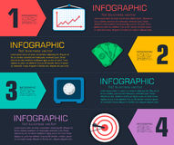 Business flat infographic template with text Stock Image