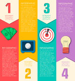 Business flat infographic template with text Royalty Free Stock Photography
