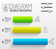 Business flat infographic template with text Stock Images