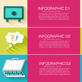 Business flat infographic template with text Royalty Free Stock Image