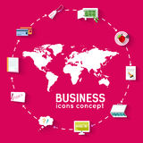 Business flat infographic template with text Stock Photo