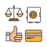 Business flat line icons. Illustration design Royalty Free Stock Image