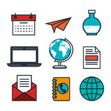 Business flat line icons. Illustration design Stock Images