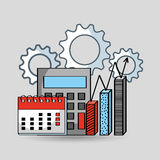 Business flat line icons. Vector illustration design Stock Image