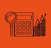 Business flat line icons. Vector illustration design Royalty Free Stock Photos