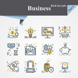 Business flat and line Stock Photos