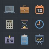 Business Flat Metro Style Icons Stock Photo