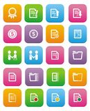 Business flat style icon sets. Suitable for user interface Stock Photo