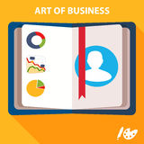 Business flat vector background Stock Photos