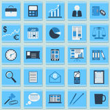 Business flat vector icons Royalty Free Stock Photos