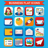 Business flat vector icons set Royalty Free Stock Photos