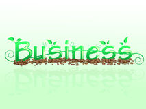 Business floral inscription Royalty Free Stock Image