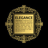 Business flourish signs and classic border of logo. Royalty Free Stock Photography