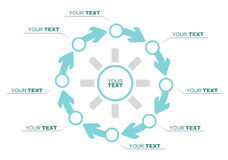 Business flow illustration Stock Image