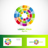 Business flower logo vector Royalty Free Stock Photo