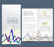 Business flyer. Professional business catalog template or corporate brochure design with inner pages Stock Photo