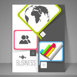 Business flyer, banner or template. Royalty Free Stock Photo