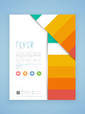 Business flyer, brochure or template design. Stock Photography