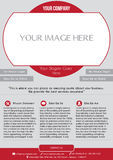 Business flyer royalty free stock photography